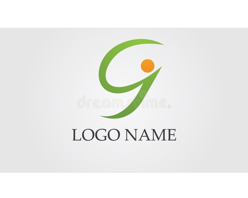 G rotula os ícones app do molde do logotipo e dos símbolos ilustração royalty free