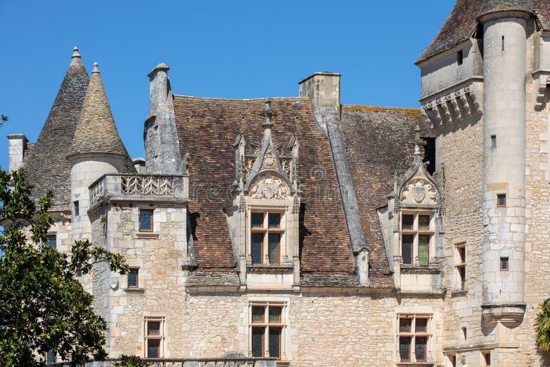G?rskiej chaty des Milandes, kasztel w Dordogne od forties lata sze??dziesi?te xx wiek, nale?a? Josephine p??dupki obrazy stock