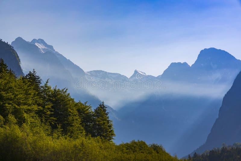 G?ry w Triglav parku narodowym, Slovenia obrazy royalty free