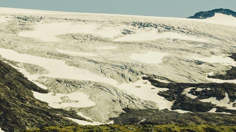 G?ry z lodowym lodowem Drogowy Sognefjellet, Norwegia obraz stock