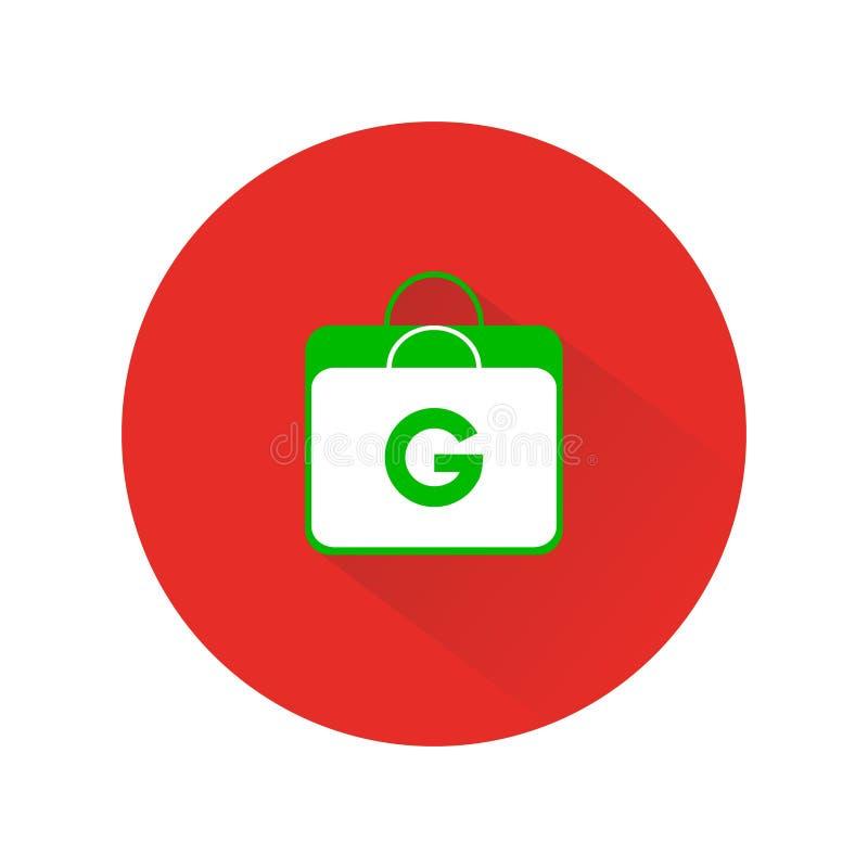 G Shopp. A minimalist and simple online shop logo royalty free illustration