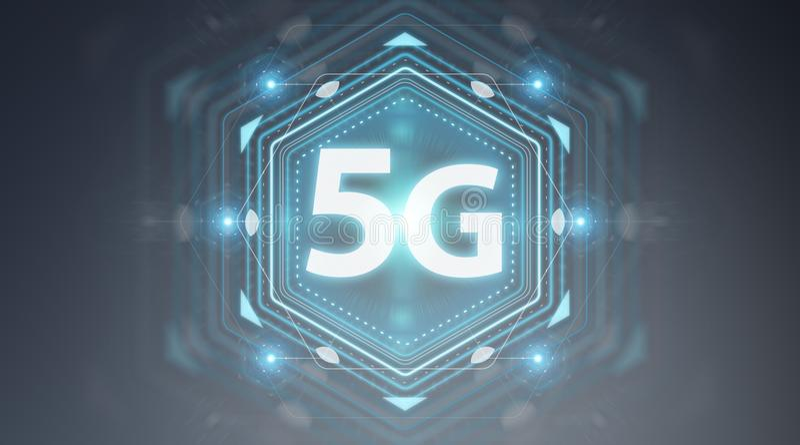 5G sieci interfejsu 3D rendering royalty ilustracja