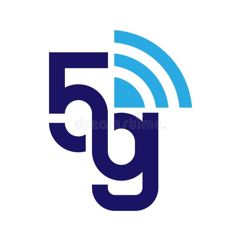 5G sieci logo Logo sieci 5G związek 10 eps ilustracji