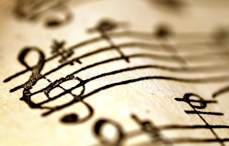 G-sleutel, muziekconcept royalty-vrije stock afbeeldingen
