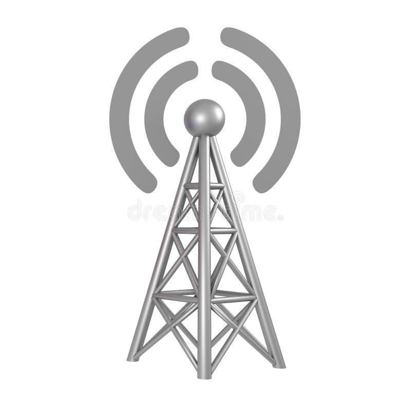 3G, 4G, 5G, stazione ricetrasmittente Wi-Fi su fondo bianco isolato rappresentazione 3d royalty illustrazione gratis