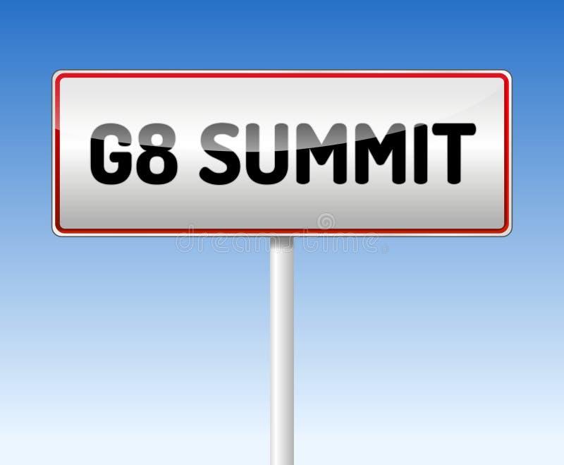 G8 Summit sign royalty free illustration