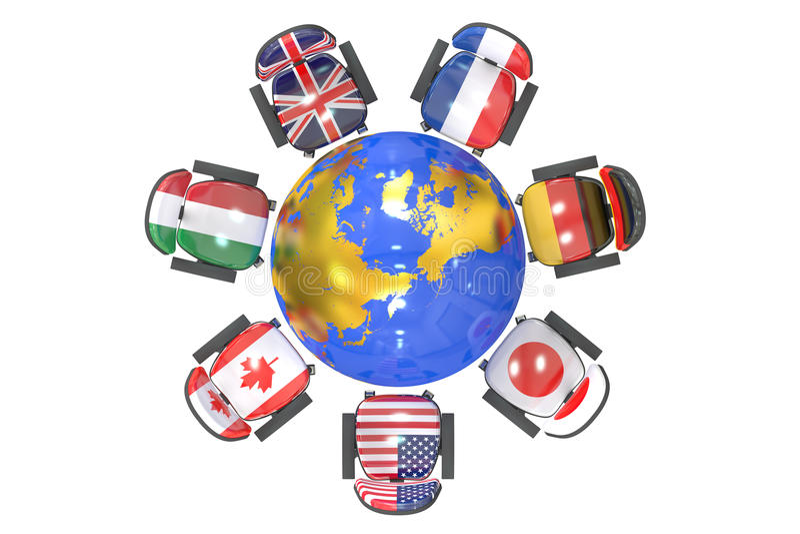 G7 szczytu grupa 7 pojęcie ilustracja wektor