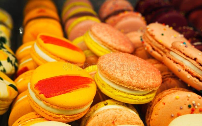 G?teaux color?s de macaron photos libres de droits