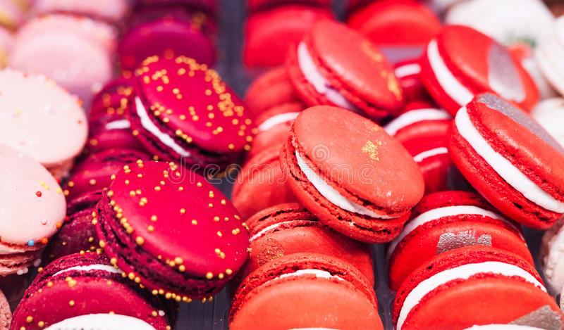 G?teaux color?s de macaron images stock