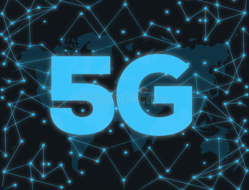 5G technologia cyfrowa ilustracja wektor