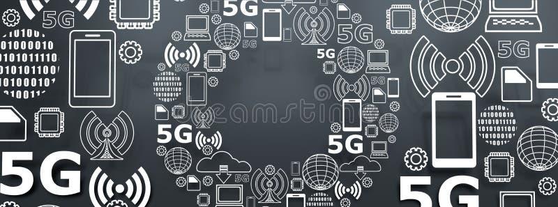 5G technologieachtergrond royalty-vrije illustratie