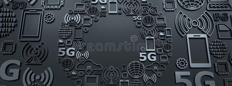 5G technologieachtergrond stock illustratie