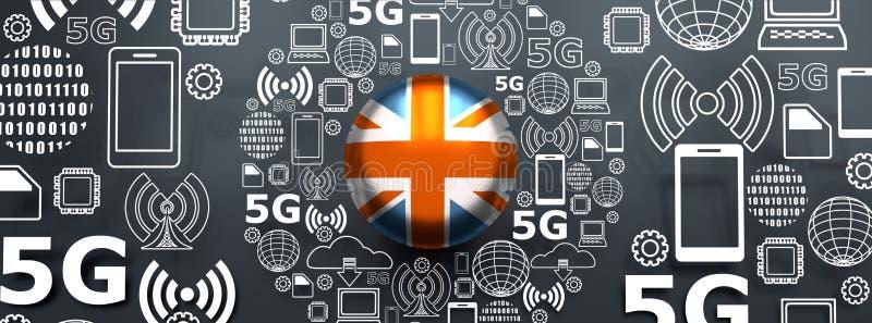 5G technologieachtergrond vector illustratie