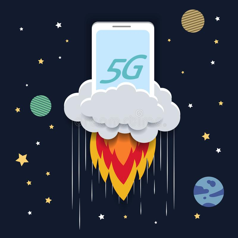 5G technology concept vector illustration