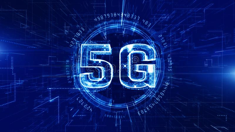 5G Technology Digital Data Connection Concept royalty free illustration