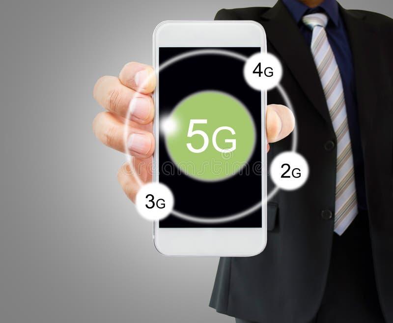 5g techonology στο smartphone μου στοκ φωτογραφίες