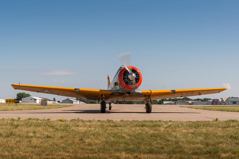 AT-6G Texan Turns stock photo