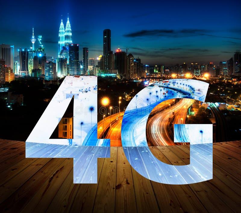 4G text on Kuala Lumpur Malaysia stock images