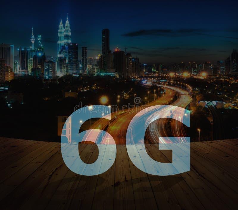 6G text on Kuala Lumpur Malaysia stock photo