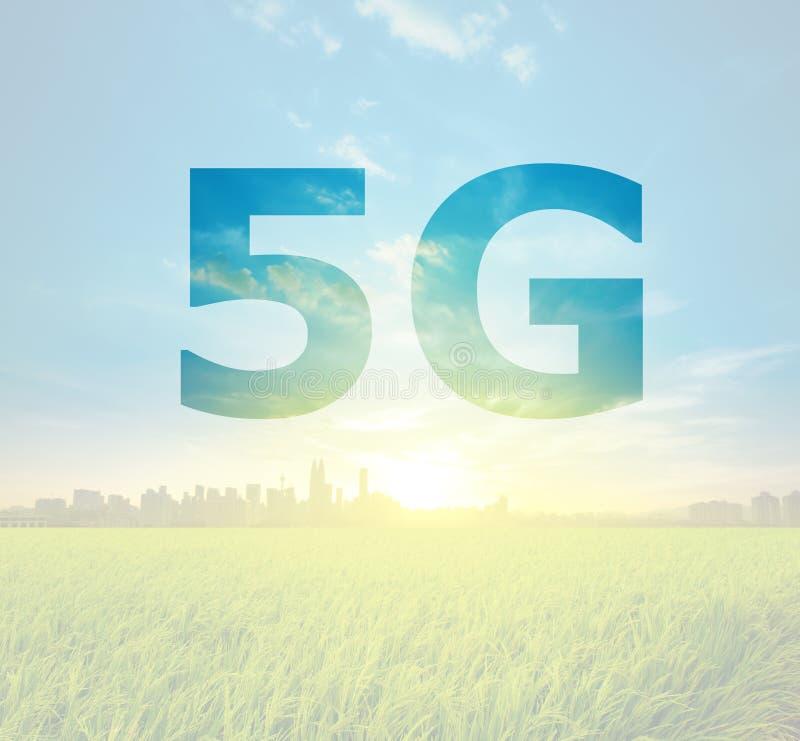 5G text on Kuala Lumpur Malaysia stock photo