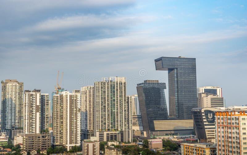 G Tower building of Bangkok, Thailand stock image