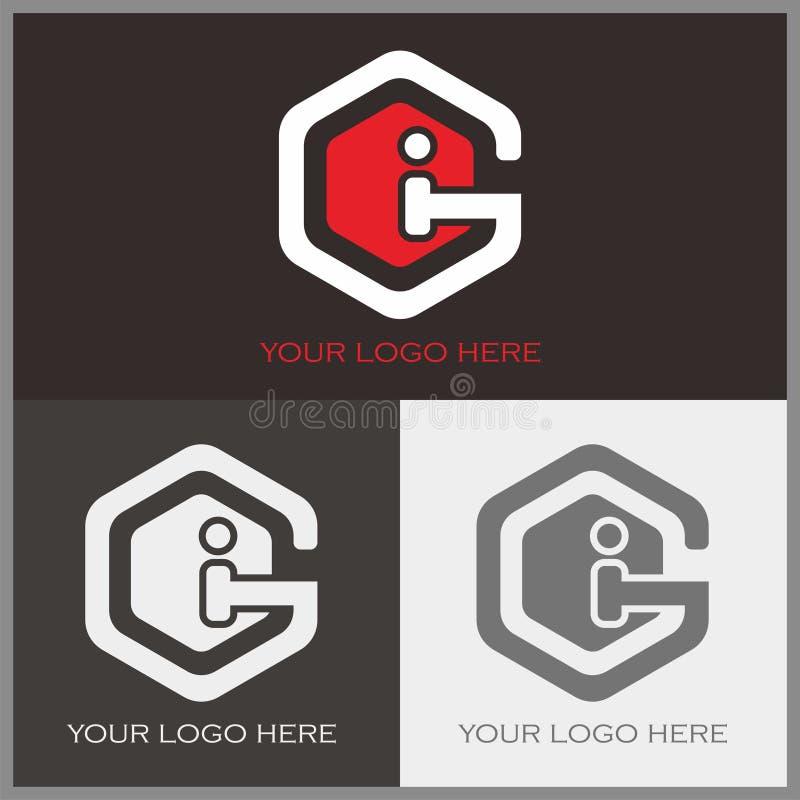 G- und i-Logo stock abbildung
