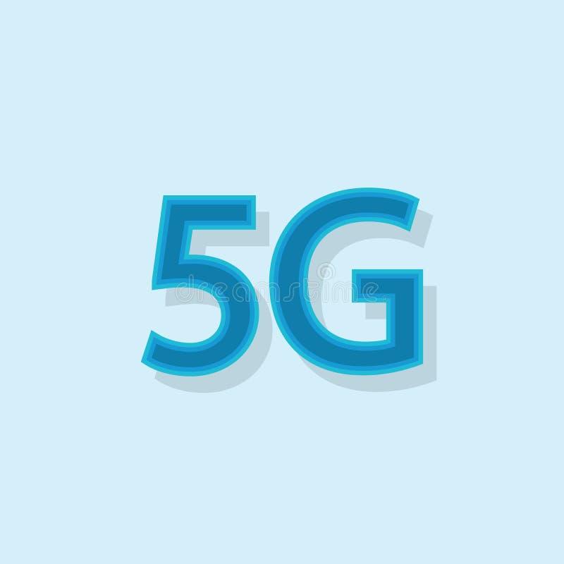 5G vectorpictogram 5de van de het Netwerkverbinding van Generatie Draadloze Internet Informatietechnologie Illustratie Mobiele ap royalty-vrije illustratie