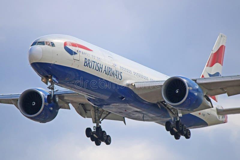 G-VIIA :英国航空公司波音777-200ER 免版税库存图片