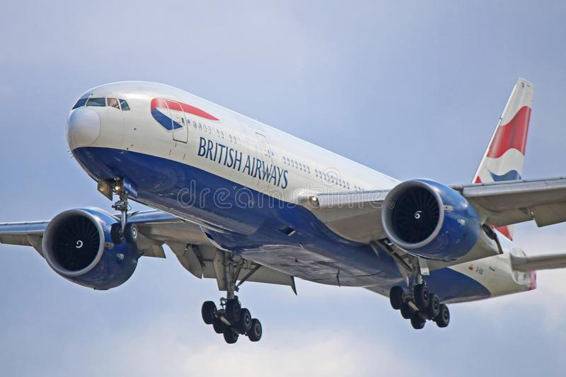 G-VIIA : British Airways Boeing 777-200ER images libres de droits