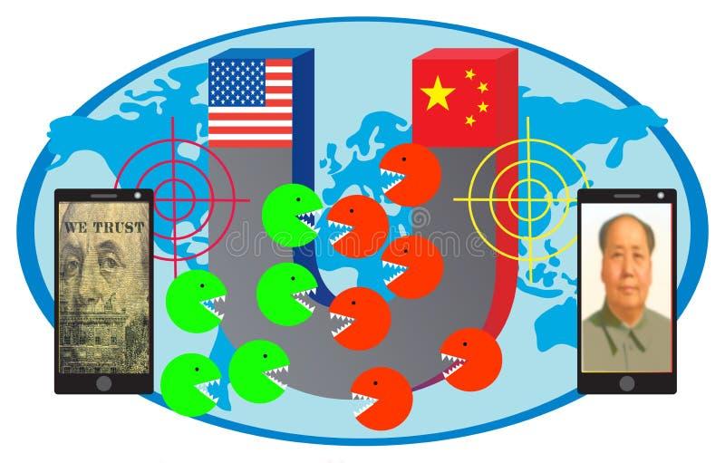 5G wereldwijde concurrentie stock fotografie