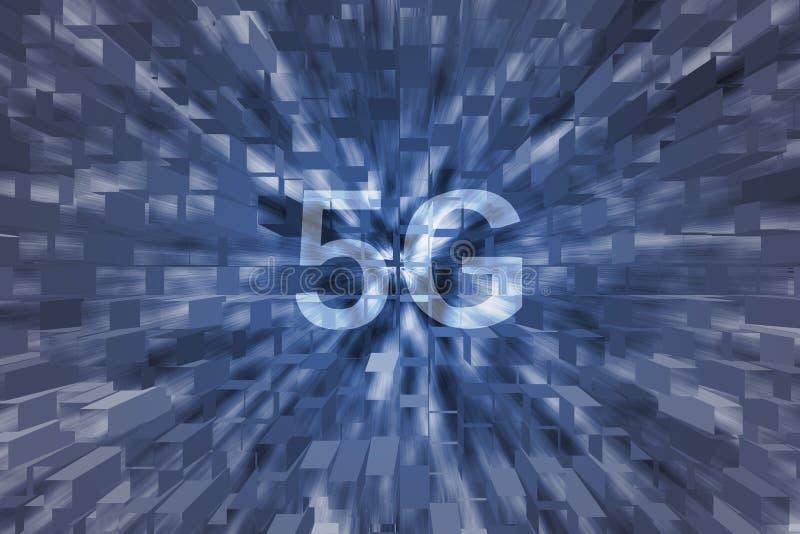 5G wiek z kwadratem ilustracja wektor