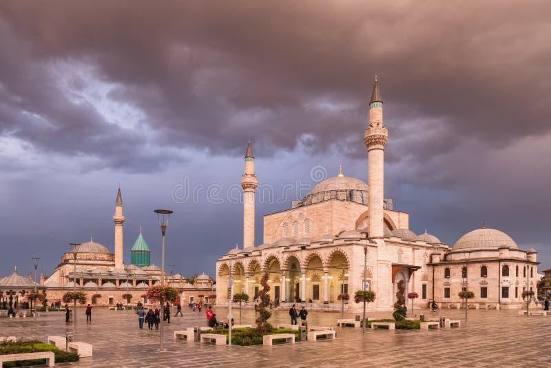 G??wny plac stary miasteczko Konya, Turcja zdjęcia royalty free