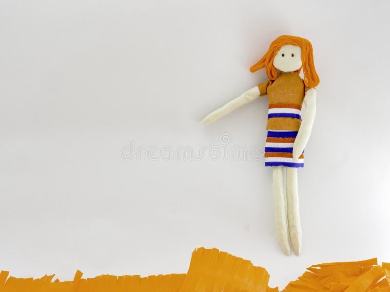 Gałganiana lala z królewiątka dag dekoracjami zdjęcie royalty free