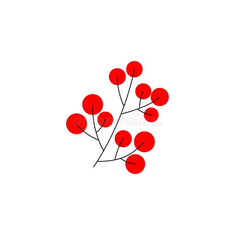 Gałąź Bożenarodzeniowy uświęcony jagoda element dla świątecznego projekta odizolowywającego na białym tle również zwrócić corel i royalty ilustracja