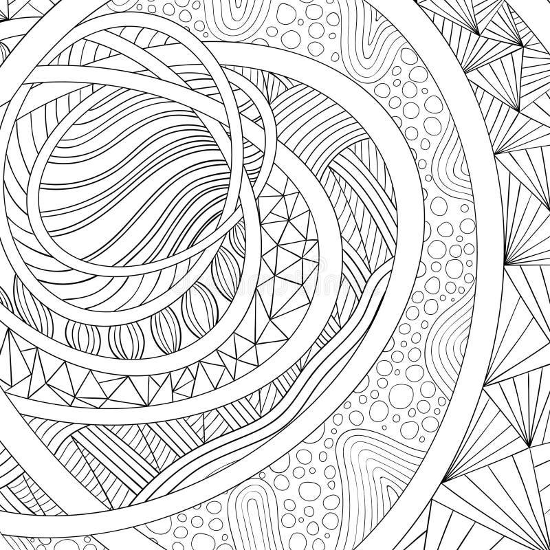 gałąź colours dekoracyjny rysunek wypełniającego ornament Zentangle ilustracja wektor