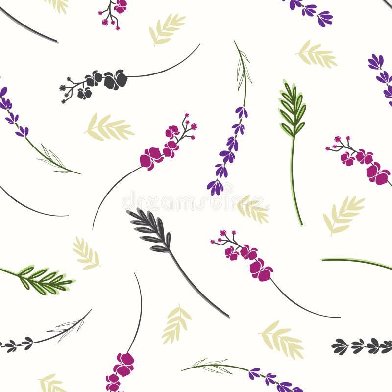 Gałąź i kwiatu bezszwowy tło obrazy royalty free