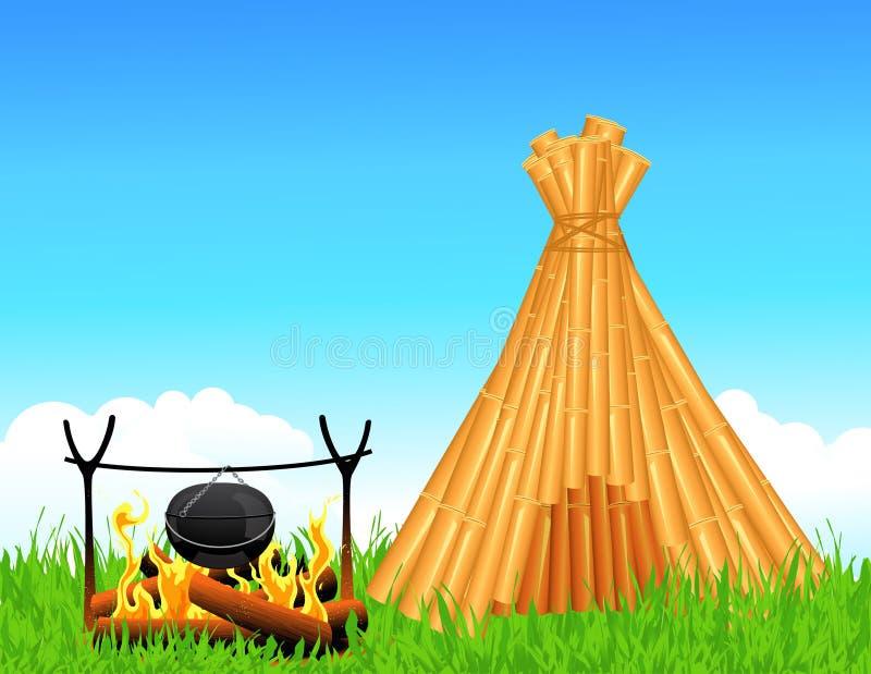 gałąź kominka schronienie royalty ilustracja
