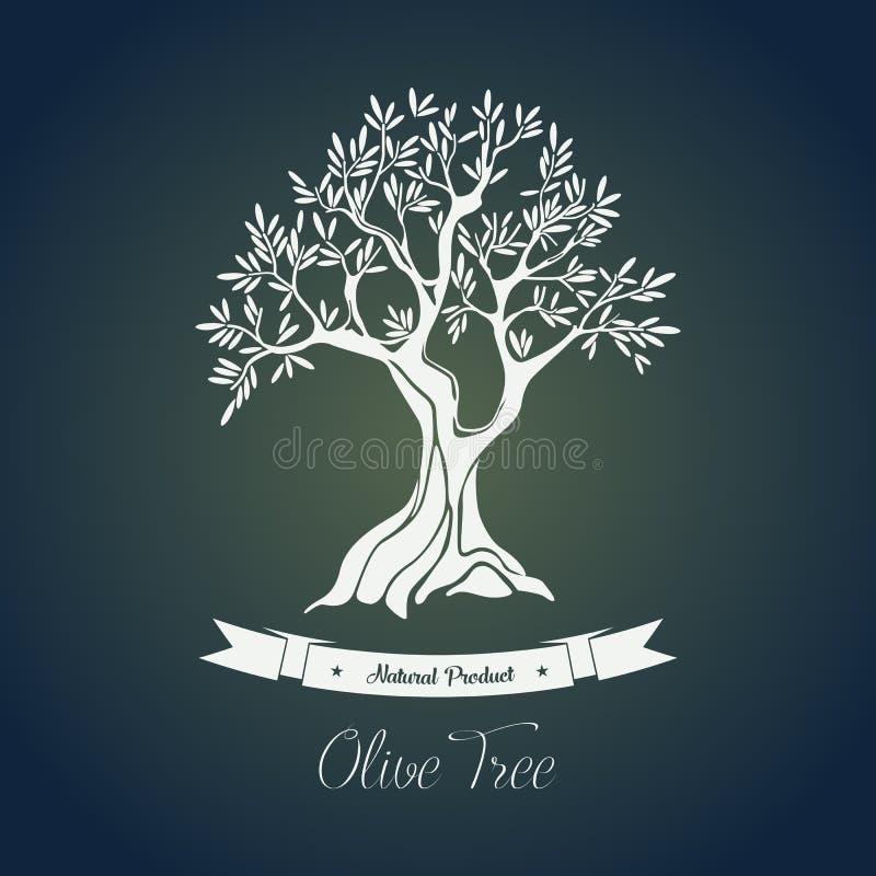 Gałąź na drzewie z oliwa z oliwek jagodą royalty ilustracja