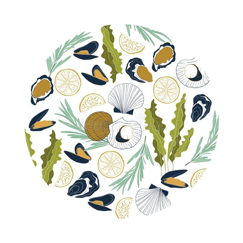 Ga??zatki Laminaria lub Kelp Zielonego jedzenia algi odizolowywa? na bia?ym tle royalty ilustracja