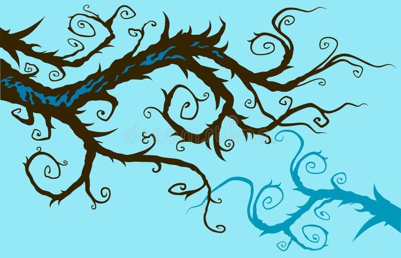 gałęziasty cudacki ilustracja wektor