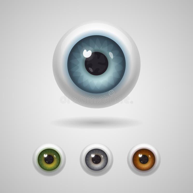 Gałki oczne z dużymi irysami royalty ilustracja