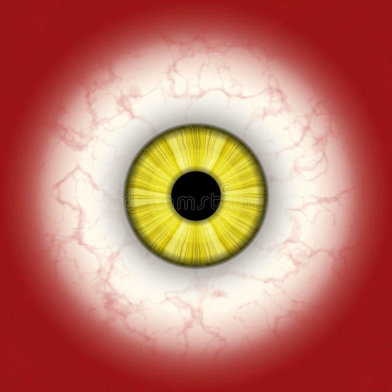 gałki ocznej duże ilustracja wektor