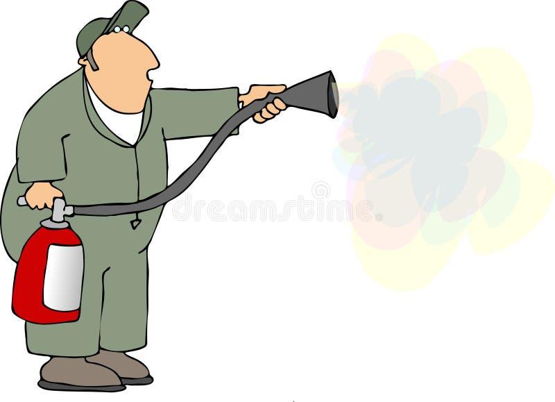 gaśnica ogień ilustracji