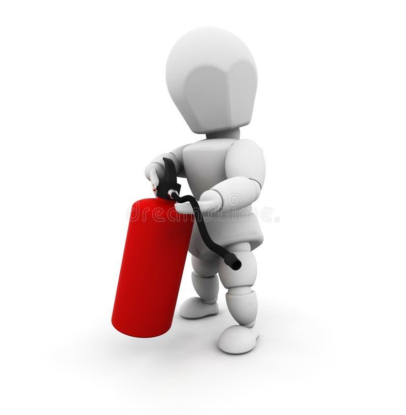 gaśnice przeciwpożarowe gospodarstwa, ilustracji