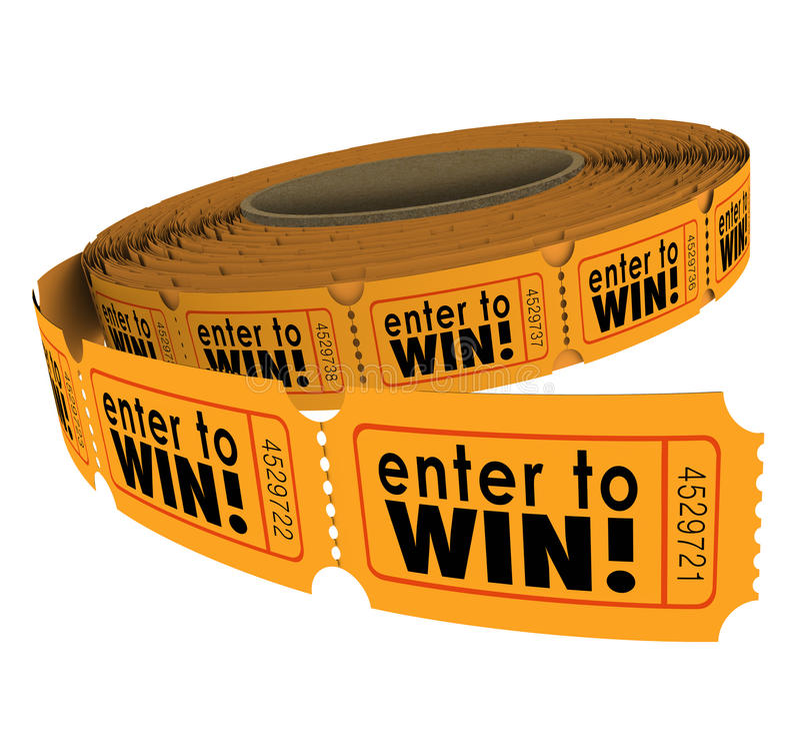 Ga binnen om van het Broodjesfundraiser van het Loterijkaartje te winnen het Geluk van de de Liefdadigheidsloterij royalty-vrije illustratie