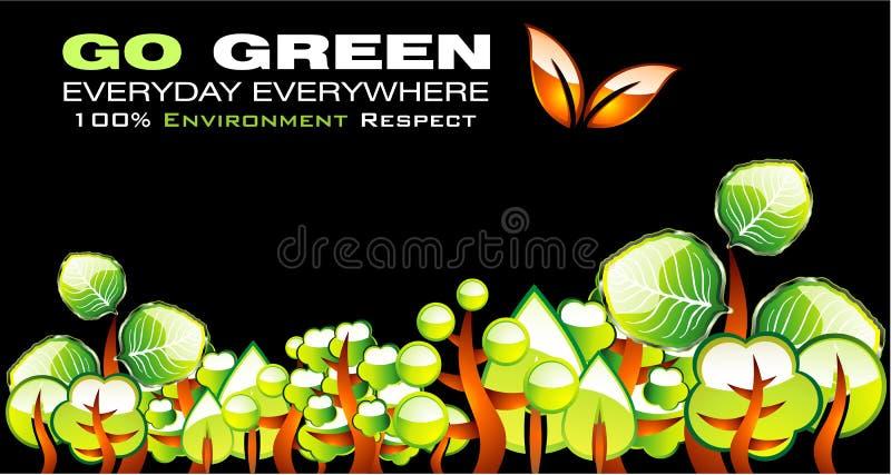 Ga de Groene Kaart van het Milieu vector illustratie