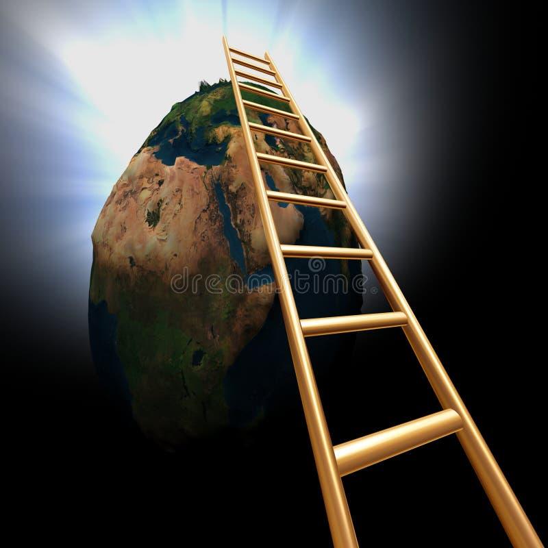Ga de wereld uit vector illustratie