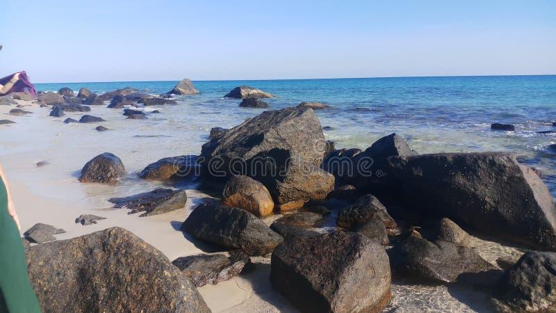 Ga echt van het de aardstrand van het reislandschap het eilandfoto stock foto's
