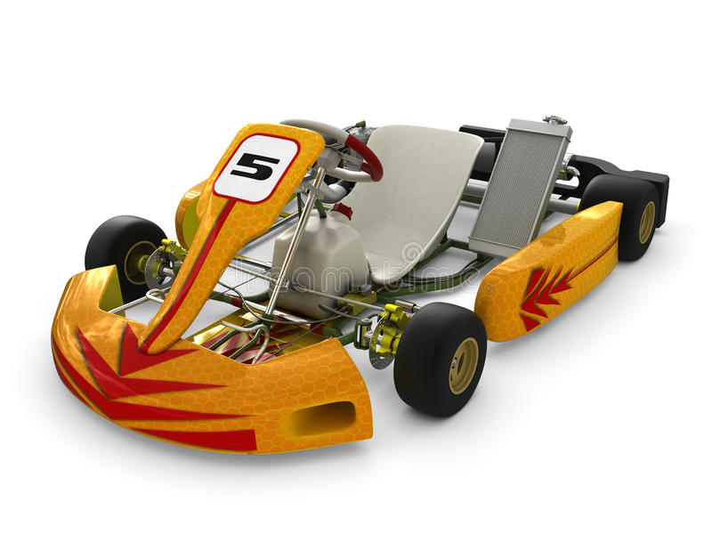 Ga -gaan-kart stock illustratie