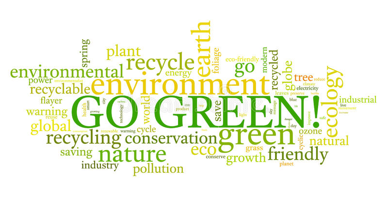 Ga Groen! stock illustratie